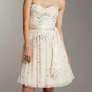 New BCBG Cream-Colored Sequin Dress